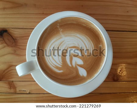 cup of art coffee - stock photo