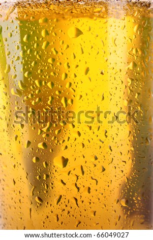 Cup of beer closeup - stock photo