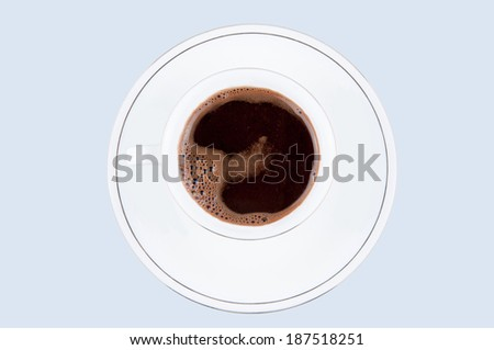 Cup of  black coffee isolated on the background
