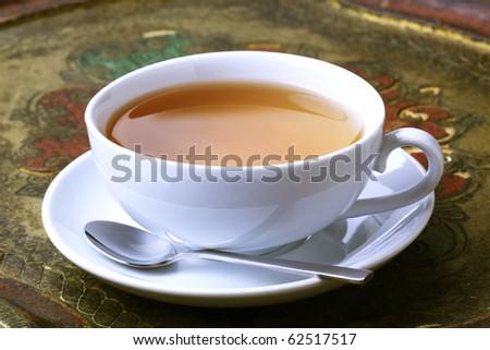 Cup of black tea - stock photo