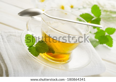 cup of chamomile - stock photo