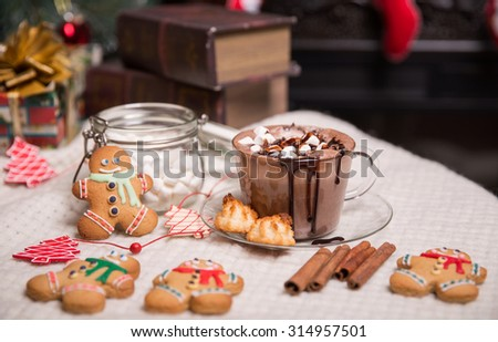 cup of cocoa - stock photo