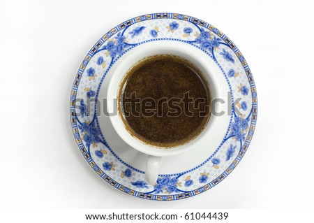 cup of coffe on top - stock photo