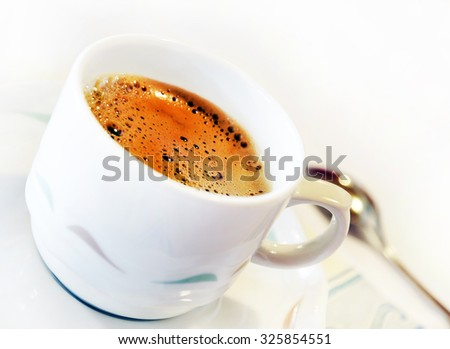 Cup of coffee . - stock photo