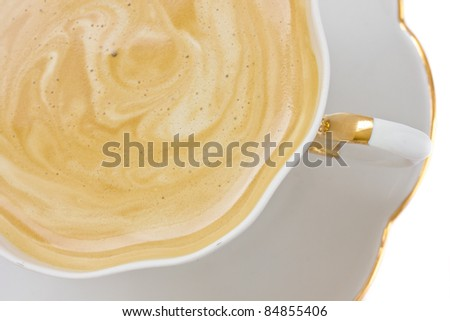 cup of coffee cappuccino  isolated on white background