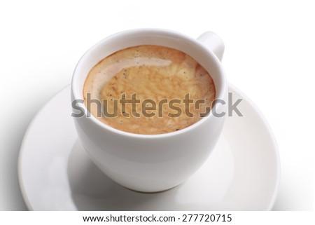 Cup of coffee, closeup - stock photo