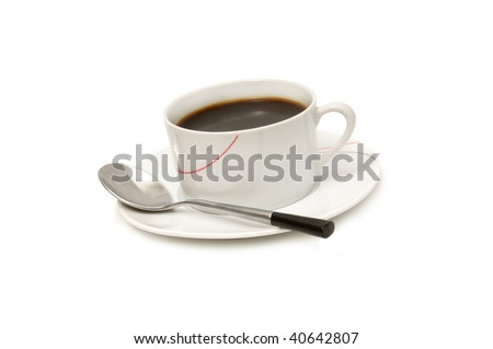 cup of coffee isolated on a white background