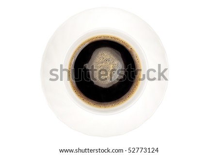 Cup of coffee - isolated on white background