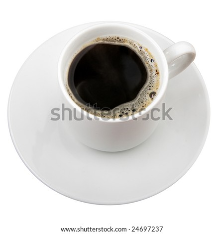 Cup of coffee isolated over white background