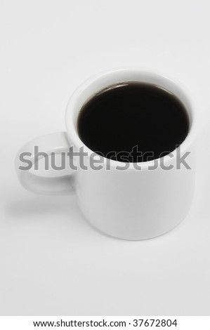 Cup of coffee on isolated white background - stock photo