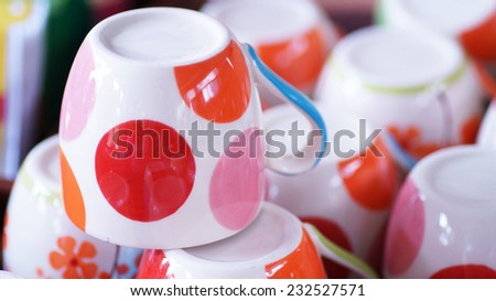 cup of coffee overturned - stock photo