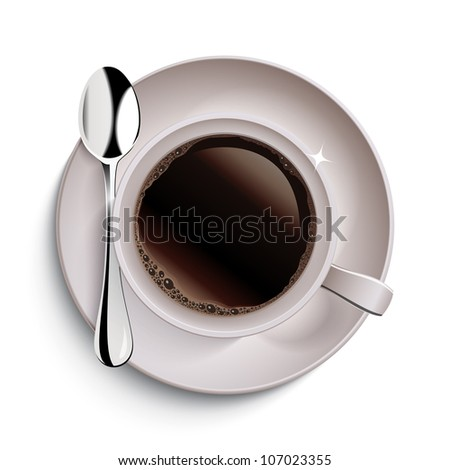 Cup of coffee. Raster version, vector file id: 106486937 - stock photo