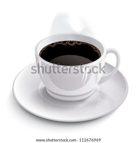 Cup of coffee. Raster version, vector file id: 112055402 - stock photo