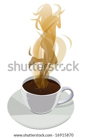 cup of coffee with a steam