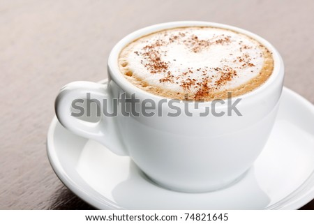 cup of coffee with cinnamon