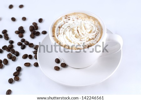 cup of coffee with cream