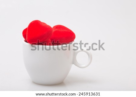 Cup of coffee with heart symbol
