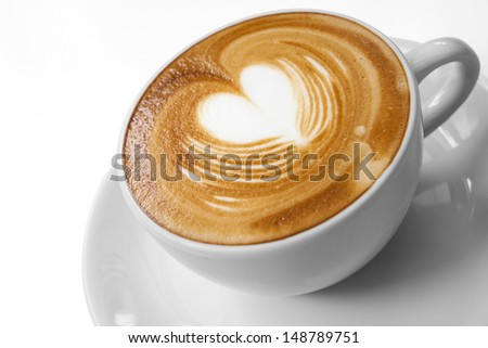 Cup of coffee with Love - stock photo