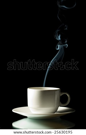 cup of coffee with steam