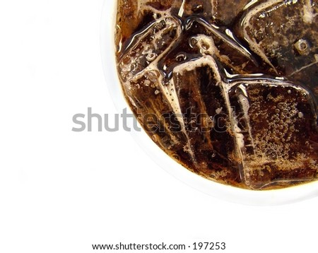 Cup of cola against white background - stock photo