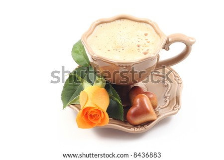 cup of delicious coffee - I love you - perfet for Valentine's day or birthday