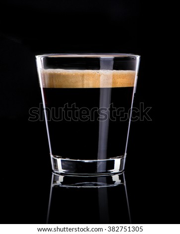 Cup of espresso coffee