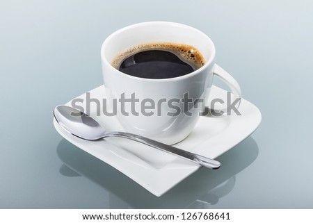 Cup of fresh black coffee