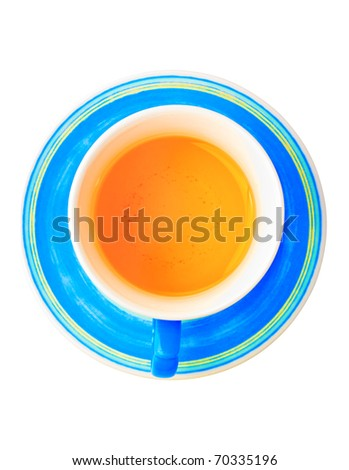 Cup of herbal tea isolated on a white background with clipping path - stock photo