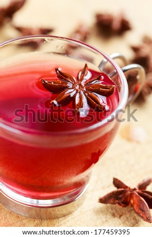 Cup of hibiscus tea