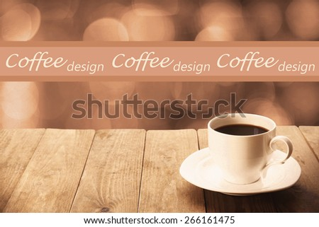 Cup of hot drink on bright background - stock photo