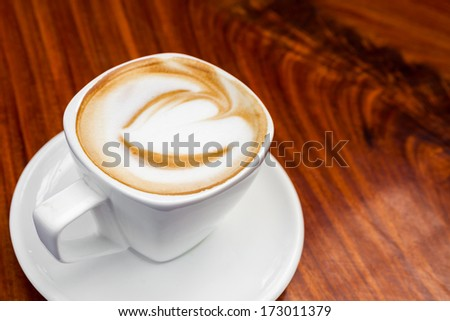 Cup of latte coffee - stock photo