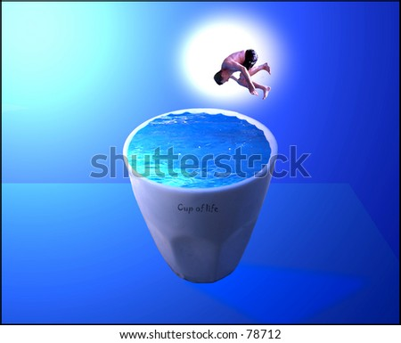 Cup of Life...Up-sized - stock photo