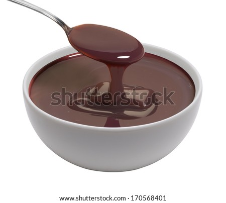 cup of melted chocolate - stock photo
