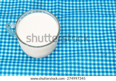 CUP OF MILK - stock photo