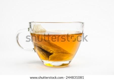cup of tea (bag) - stock photo