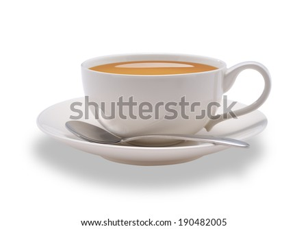 Cup of tea isolate on white background - stock photo