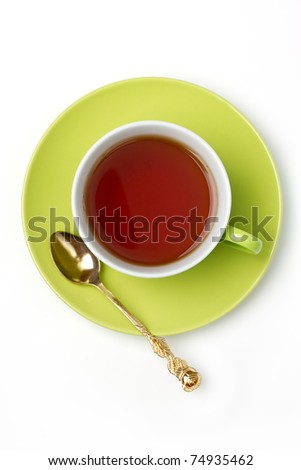 cup of tea isolated on white background - stock photo