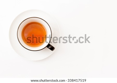 Cup of tea isolated over white background - stock photo
