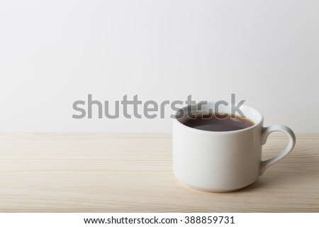 Cup of tea on the table. Shallow depth of field. Selective focus. - stock photo
