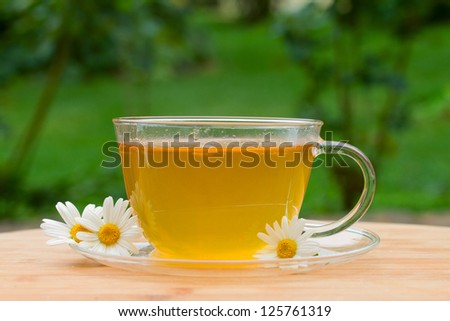 cup of tea with camomile