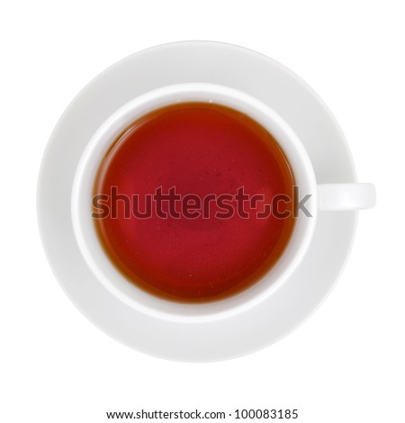 Cup of Tea with clipping path - stock photo