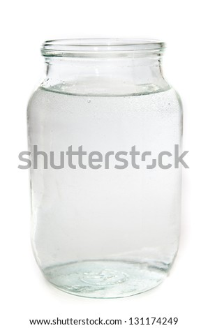 cup of water isolated on a white background - stock photo