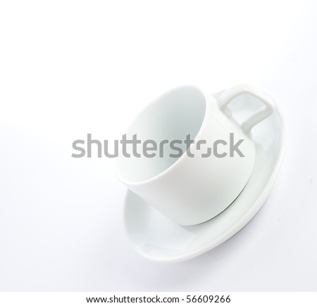 cup on plate isolated
