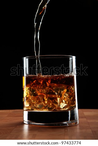 cup whiskey - stock photo