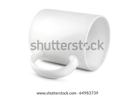 Cup white isolated