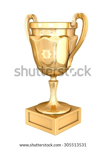 Cup winner. Isolated on white