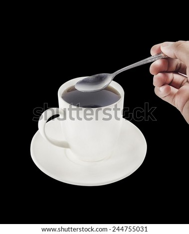 cup with a tea refilling sugar - stock photo