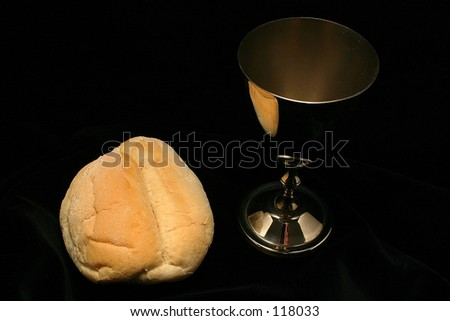 Cup with bread - stock photo