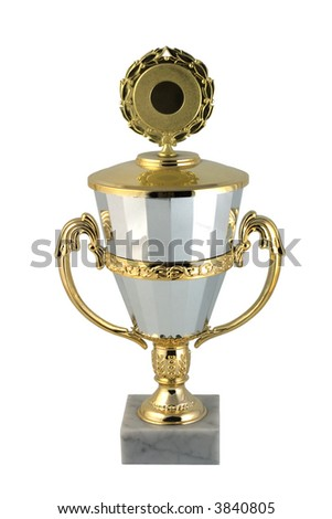 cup with empty zone for the won place - stock photo