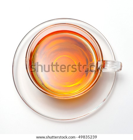 cup with tea - stock photo